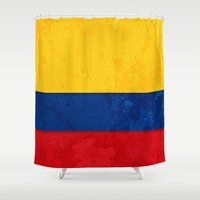 colombia Shower Curtains featuring Colombia by The Traveller, Wanderlust and Me