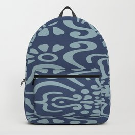 Light Blue On Dark Blue Boho Design Backpack