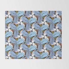 Great Blue Heron Tessellation (smaller units) Throw Blanket