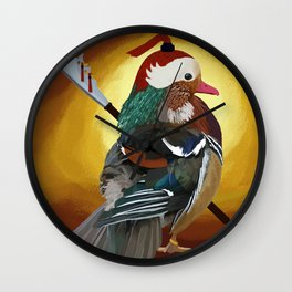Warrior Duck Wall Clock