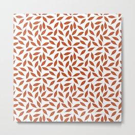 Orange autumn leaves pattern Metal Print