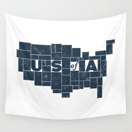 U S of A Wall Tapestry