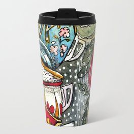 Teacup Floral Travel Mug