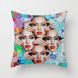 Jessica Alba Throw Pillow
