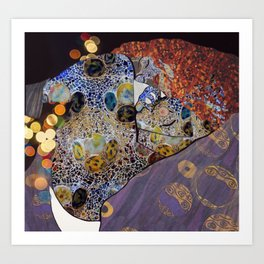 Danae, klimt and gaudì Art Print