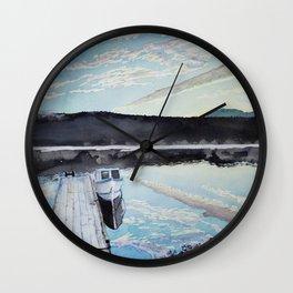 Boat and Dock Wall Clock