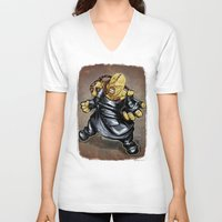 resident evil V-neck T-shirts featuring Nemesis: Resident Evil by Patrick Scullin