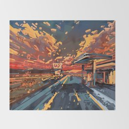 american landscape 7 Throw Blanket