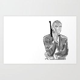 The first secret agent (Connery) Art Print