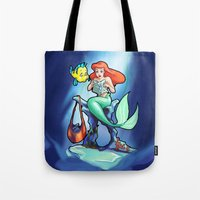 comic book Tote Bags featuring Comic Book Day by rnlaing