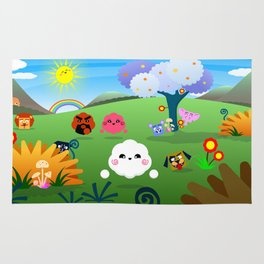 Happy Colorful Planet 01 Rug