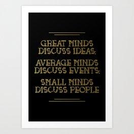 Great Minds Art Print