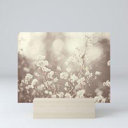 Brown Neutral Cream Nature Photography, Beige Tan Botanical Photo Mini Art Print