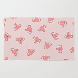 Crazy Happy Uterus in Pink, Large Rug
