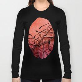 Doodled Autumn Feather 01 Long Sleeve T-shirt
