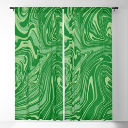 Green pastel abstract marble Blackout Curtain