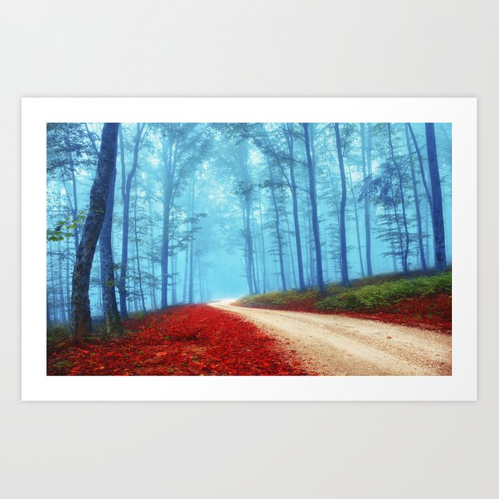 Fall for her Art Print