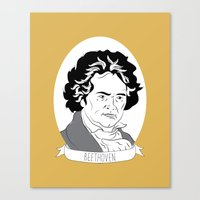 beethoven Canvas Prints featuring Beethoven by Julie Gough