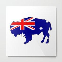 Australian Flag - Bison Metal Print