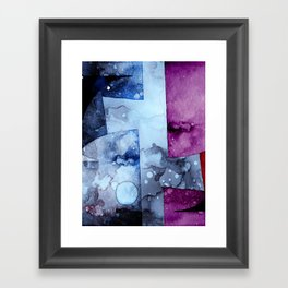 Abstract Watercolor Art Purple and Blue Framed Art Print