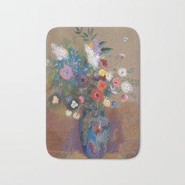 Odilon Redon - Bouquet of Flowers (1900-05) Bath Mat