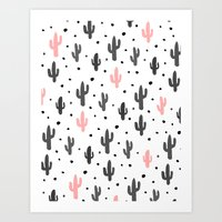 cactus Art Prints featuring Cactus  by Make-Ready