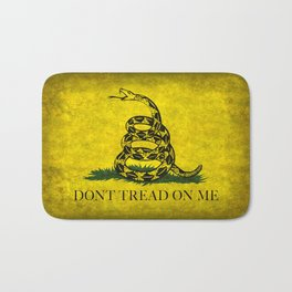 Gadsden Don't Tread On Me Flag - Worn Grungy Bath Mat