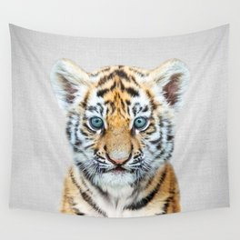 Baby Tiger - Colorful Wall Tapestry