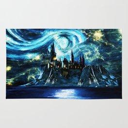 Starry Night Hogwarts Rug