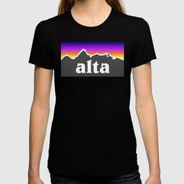 Alta Utah Ski Skiing Deer Valley Park City Trail Map Mountain T-shirt