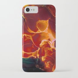Flame Contemporary Ink Painting iPhone Case