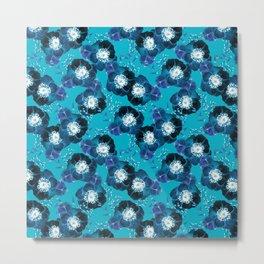 Pretty Anemone Pattern Metal Print