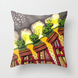 Fireworks Explosion Architectural Design 88 Throw Pillow