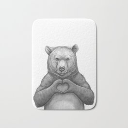 Bear with love Bath Mat