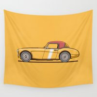 austin Wall Tapestries featuring Austin Healey by Christopher Hebert