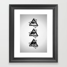 Eye New World Order Framed Art Print