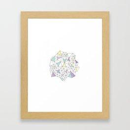 Triangles N2 Framed Art Print