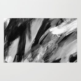 Abstract Artwork Greyscale #1 Rug
