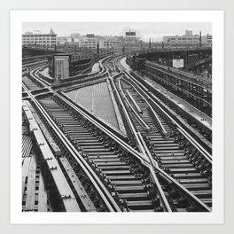 Railroad Tracks Queens New York Art Print
