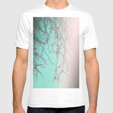 Delicately Pink Mens Fitted Tee White MEDIUM