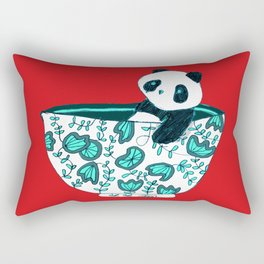 Dinnerware sets - panda in a bowl Rectangular Pillow
