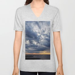 Clouds on the Sea Unisex V-Neck