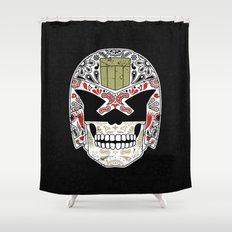 Day of the Dredd - Black Variant Shower Curtain