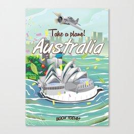 Australia vintage travel poster Canvas Print