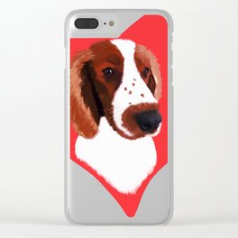 Welsh Springer Spaniel Art Clear iPhone Case