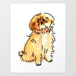 Sandy - Dog Watercolour Art Print