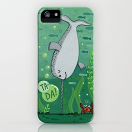 Narwhale Handstand iPhone Case