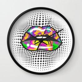 Lava Lips Wall Clock