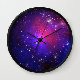 1875. Pandora's Cluster Revealed: A collision of galaxy clusters about 3.5 billion light years away. Wall Clock