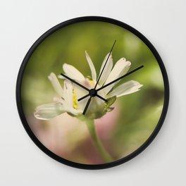 Wild flowers field Wall Clock